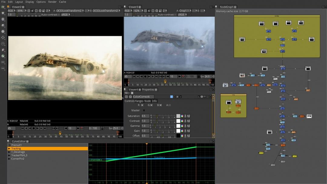 Natron: VFX ve Hareketli Grafikler için Açık Kaynak Birleştirme Yazılımı.